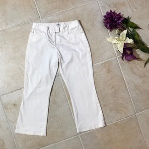 Cache casual white cropped flare ankle pants 4 #54